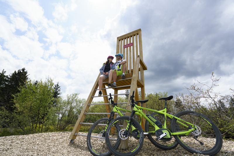 Pause auf einer Mountainbiketour