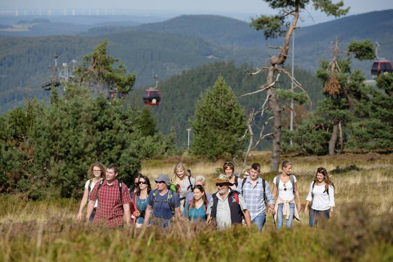 Gruppenwanderung auf dem Ettelsberg