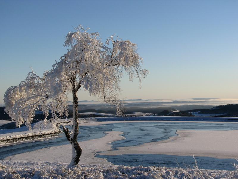 Bergsee Ettelsberg im Winter